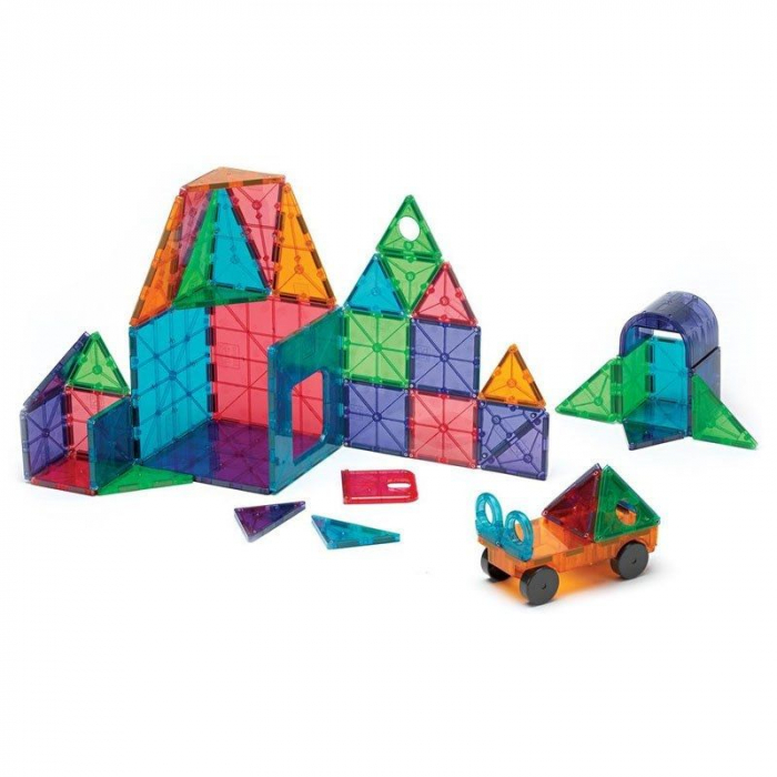 Set magnetic Clear Colors Magna-Tiles Deluxe (48 piese) 1