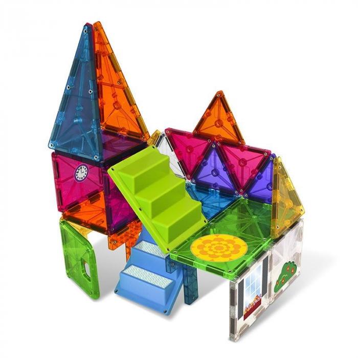 Set magnetic cu autocolante Magna-Tiles House (28 piese) 1