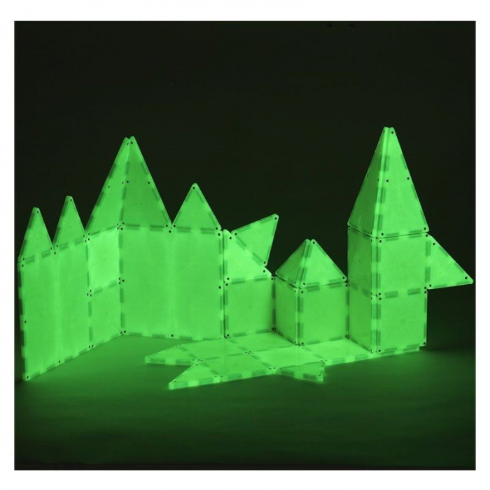 Set magnetic GLOW fosforescent Magna-Tiles (32 piese) 3