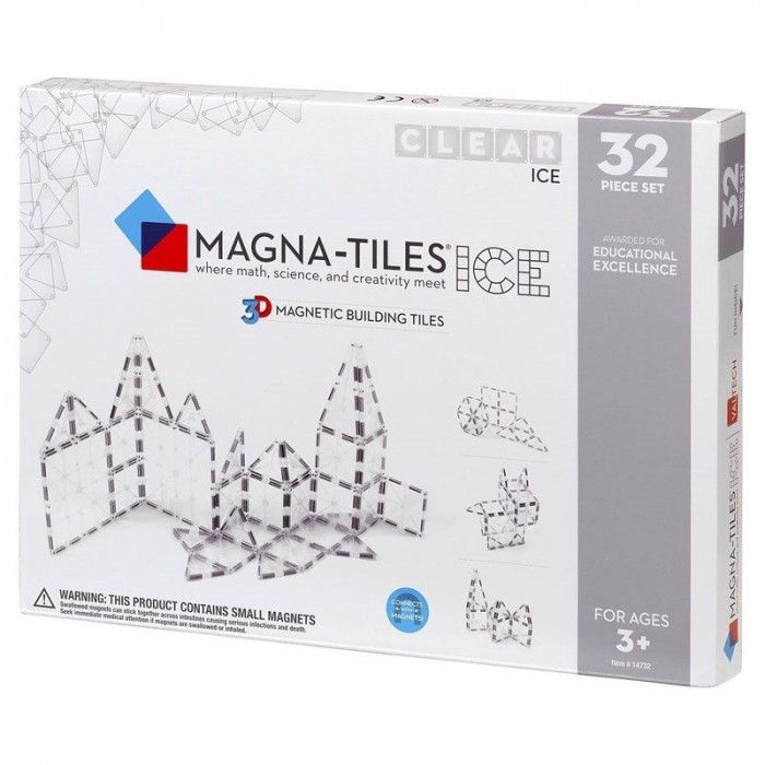 Set magnetic ICE Transparent Magna-Tiles (32 piese) 0