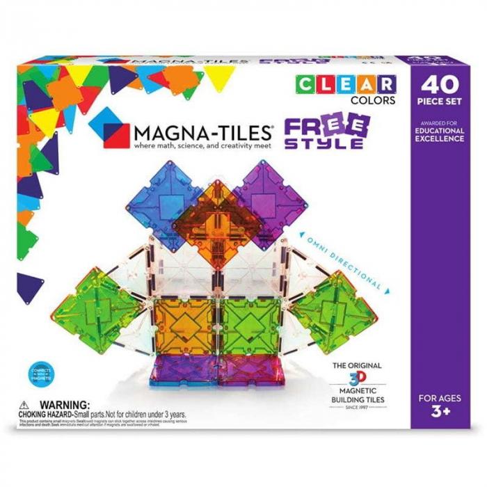 Set magnetic Magna-Tiles Freestyle cu magneți mobili (40 piese) 0