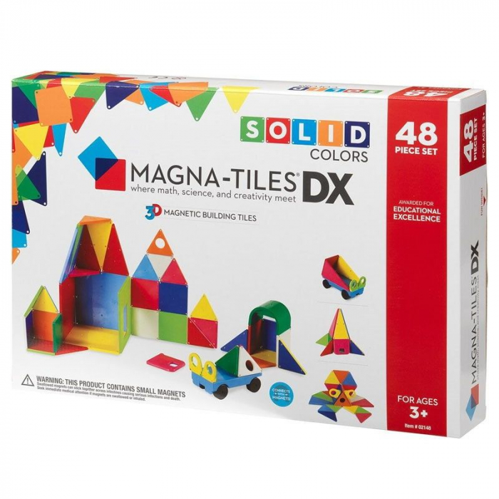 Set magnetic Solid Colors Magna-Tiles (48 piese) 0
