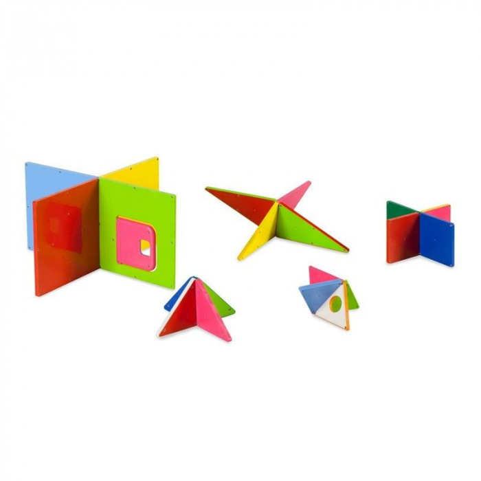 Set magnetic Solid Colors Magna-Tiles (48 piese) 2