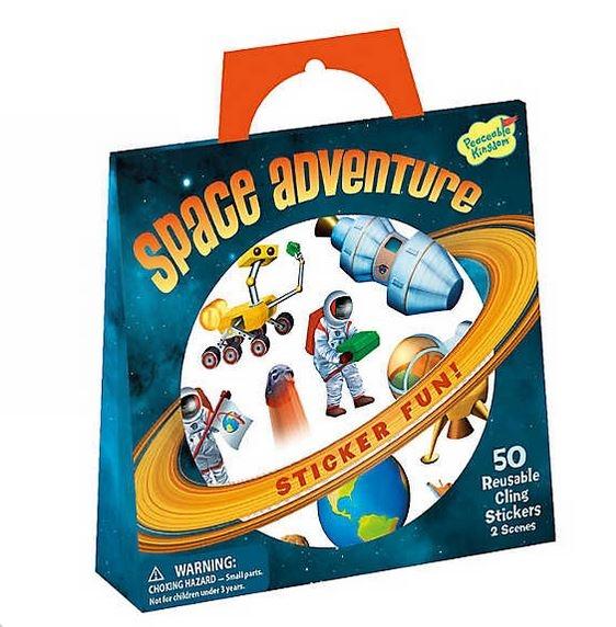 Space adventure - gentuță cu abțibilduri reutilizabile 1