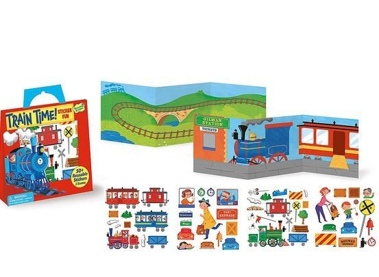 Train Time Reusable Stickers 1