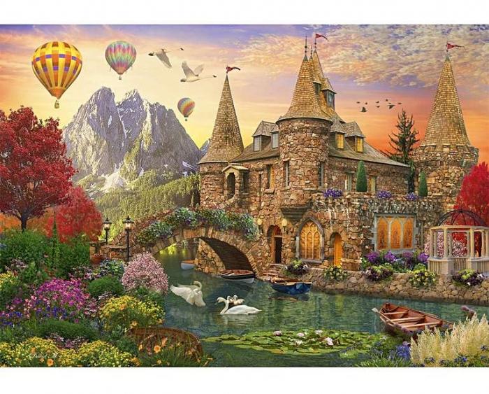 Tărâmul castelului de poveste, puzzle din lemn Wentworth 0