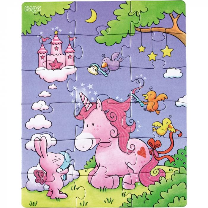 Unicorni cu sclipici – puzzle evolutiv Haba 4