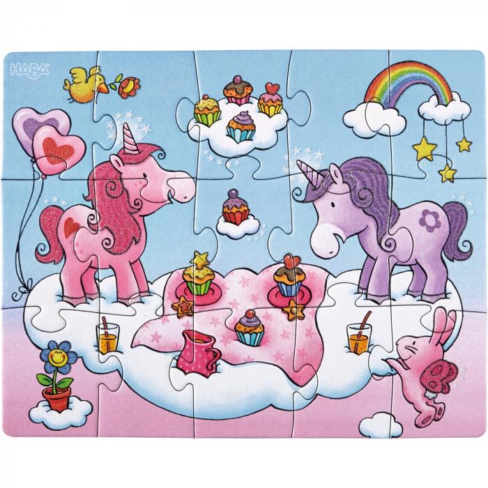 Unicorni cu sclipici – puzzle evolutiv Haba 2