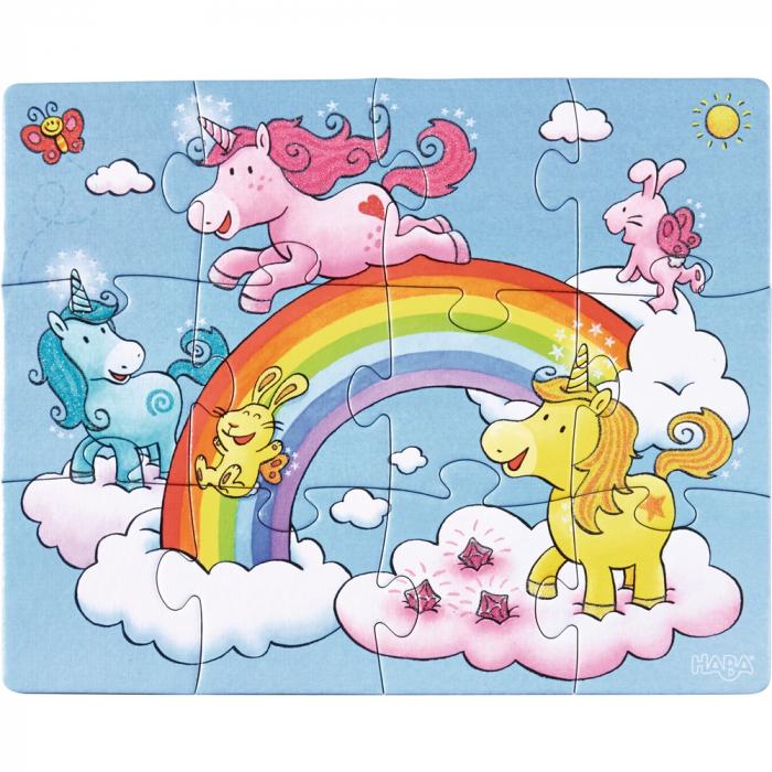 Unicorni cu sclipici – puzzle evolutiv Haba 3