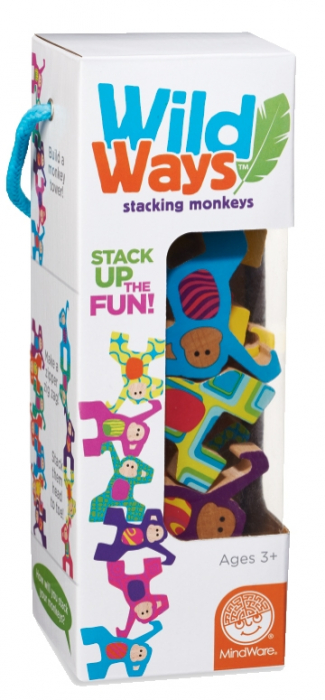 Wild Ways: Stacking Monkeys - joc de echilibru din lemn 0