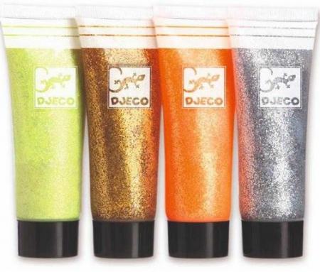 8 Culori cu sclipici Djeco, glitter gel1