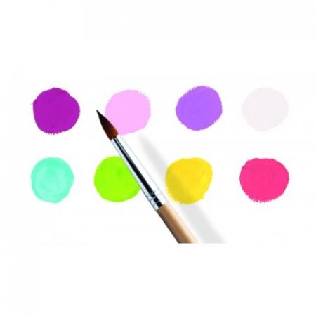 8 Culori guașe Djeco, nuanțe vesele1