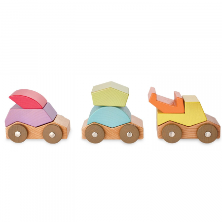 Babu ™ Rollers, set de mașinuțe din lemn2