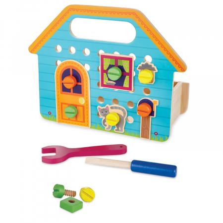 Builder Box House, set de construcție cu piese din lemn1