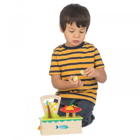 Cântar , din lemn premium - Weighing Scales - 4 piese - Tender Leaf Toys [2]