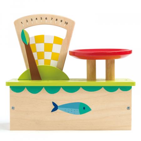 Cântar , din lemn premium - Weighing Scales - 4 piese - Tender Leaf Toys [3]