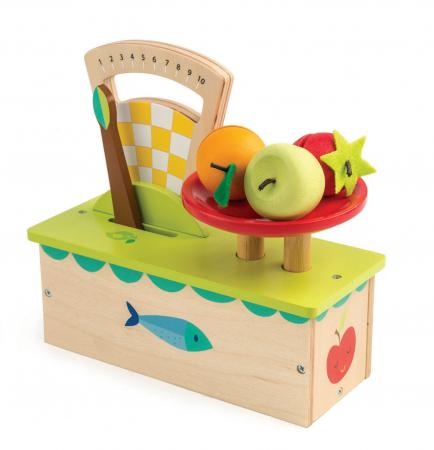 Cântar , din lemn premium - Weighing Scales - 4 piese - Tender Leaf Toys [1]