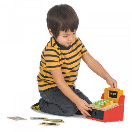 Casă de marcat , din lemn premium - Till with Money - Tender Leaf Toys [2]