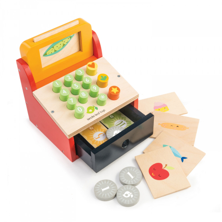 Casă de marcat , din lemn premium - Till with Money - Tender Leaf Toys [1]