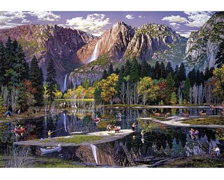 Cascada Yosemite, puzzle din lemn Wentworth1
