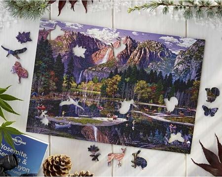 Cascada Yosemite, puzzle din lemn Wentworth0
