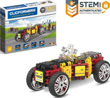 Set de construit Clicformers- Masini de viteza, set 34 piese0