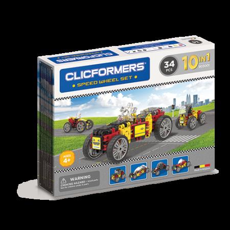 Set de construit Clicformers- Masini de viteza, set 34 piese3