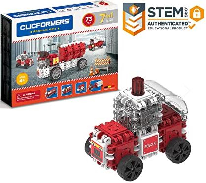Set de construit Clicformers- Masini de interventie, set 73 piese [0]