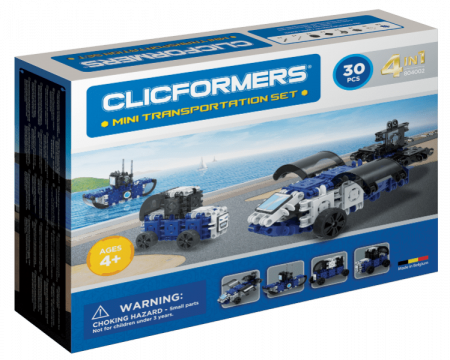 Set de construit Clicformers-Mini Transporter 30 piese0