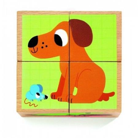 Cuburi din lemn Animale Djeco1