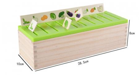 Joc asociere şi sortare - Cutie Montessori cu 88 piese din lemn1