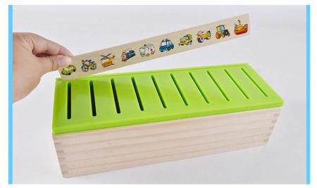 Joc asociere şi sortare - Cutie Montessori cu 88 piese din lemn3