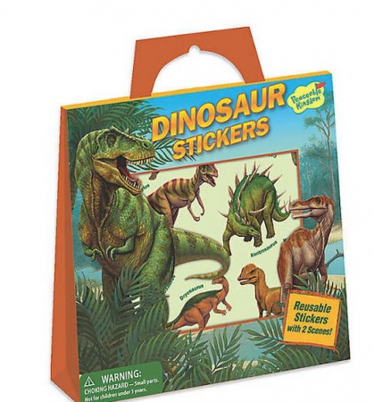 Dinosaur Reusable Sticker Tote0