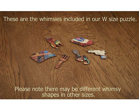 Dorința din bibliotecă, puzzle din lemn Wentworth2