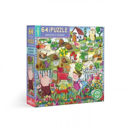 Growing a Garden , Puzzle cu 64 de piese mari cu tematica gradinaritului