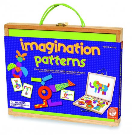 Imagination patterns, joc de construcție din lemn, cu piese magentice0
