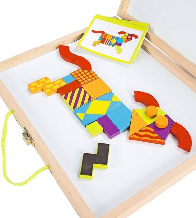 Imagination patterns, joc de construcție din lemn, cu piese magentice2