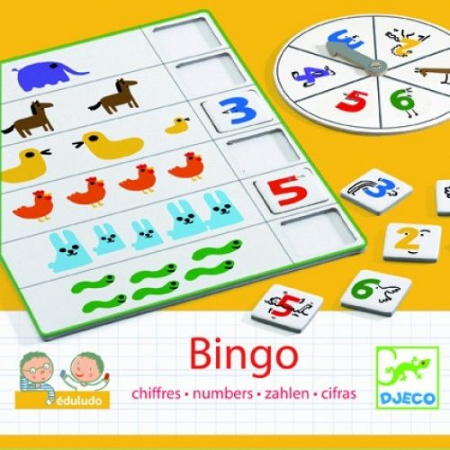 Joc Bingo Djeco- copiii învaţă să numere0
