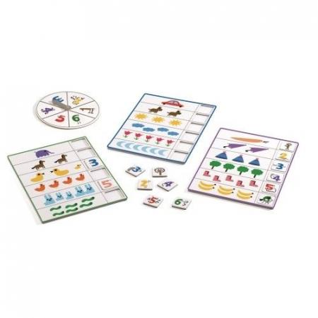 Joc Bingo Djeco- copiii învaţă să numere1