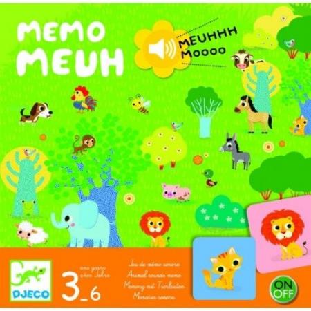 Joc de memorie cu sunete Memo Meuh Djeco [0]