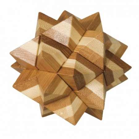Joc logic IQ din lemn bambus Star1