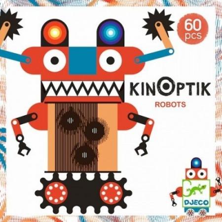 Joc magnetic Kinoptik Djeco, Roboți0