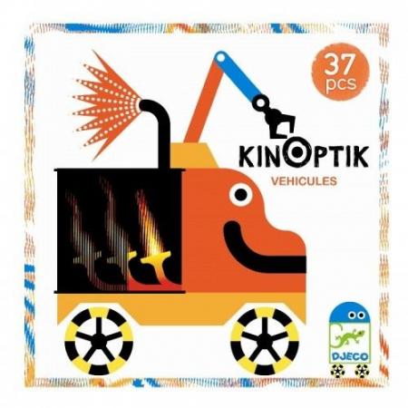 Joc magnetic Kinoptik Djeco, Vehicule0