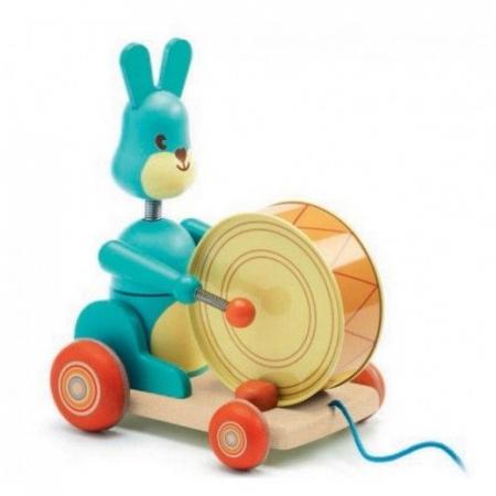 Jucărie de tras iepurașul Bunny boum Djeco [2]