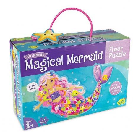 Magical Mermaid - Sirena magică, puzzle mare de podea0