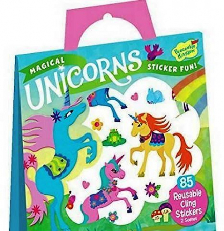 Magical Unicorns Reusable Stickers0