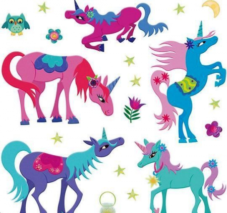 Magical Unicorns Reusable Stickers1
