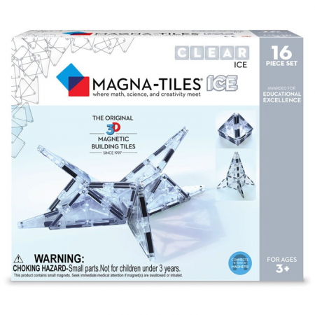 Magna-Tiles ICE Transparent – set magnetic (16 piese)0