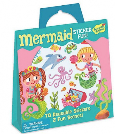Mermaid Reusable Sticker Tote0