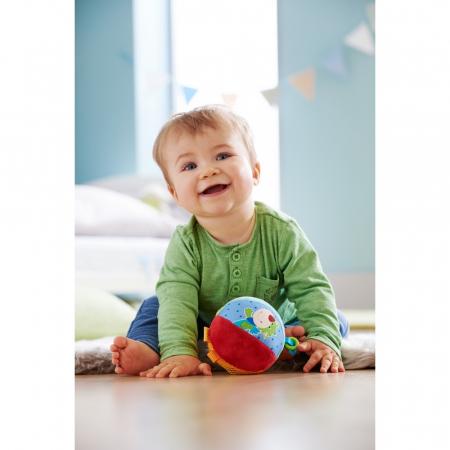 Minge pufoasă cu activităţi pentru bebeluşi – Şoricelul Merlie și Dragonul Duri - Haba1